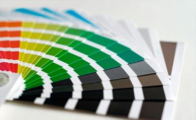 Pantone-Fächer zur Farbauswahl